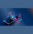 smartphones online shopping appliances via vector image vector image