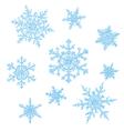 snowflakes sketch vector image vector image