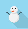 snowman icon set of great flat icons with style vector image