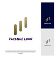 stats financial advisors logo design concept vector image