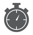 stopwatch glyph icon time and measure timer sign vector image vector image