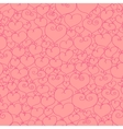 Stylized hearts seamless vector image vector image