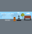 summer park alley banner horizontal concept vector image vector image