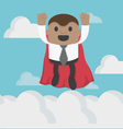Super African businessman High speed Flying Sky vector image vector image