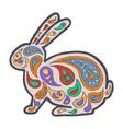 tangle pattern rabbit vector image