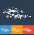text on colour background happy new year vector image vector image