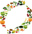 Vegetables background with place for text healthy vector image vector image