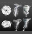 weather tornado water cyclonic storm nature power vector image