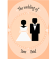 wedding couple invitation vector image