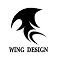 wing design vector image vector image