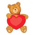 toy teddy bear holding a heart vector image