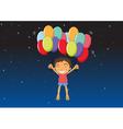 a boy with balloons vector image