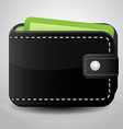 Black Leather Wallet vector image