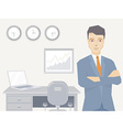 a portrait of the leader of a businessman vector image