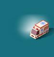 ambulance car or emergency medical service vector image vector image