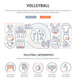 banner volleyball vector image vector image
