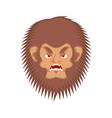 bigfoot evil emotion face yeti angry emoji vector image vector image