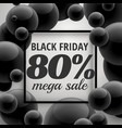 black friday offer sale poster template with vector image vector image