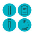 blood donation set icons vector image