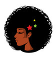bright in pop art afro vector image vector image