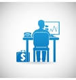 Business Workspace Symbol Businessman at Work Icon vector image vector image