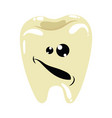 cartoon a sick tooth caries on vector image vector image