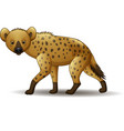 cartoon funny hyena walking isolated on white back vector image vector image