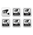 CCTV camera Video surveillance buttons set vector image vector image