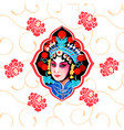 chinese peking opera floral poster vector image vector image