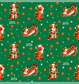 christmas colored seamless pattern with 2022 new vector image