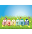Colored Easter Eggs2 vector image vector image