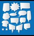comic bubble speech balloons cartoon speech vector image