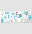 corporate identity template with fresh mint color vector image vector image