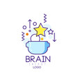 creative symbol of brain energy abstract vector image