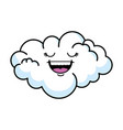 cute cloud kawaii character vector image vector image