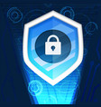 cyber security background graphic vector image
