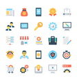 Design and Development Colored Icons 5 vector image vector image