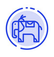 elephant animal blue dotted line line icon vector image vector image