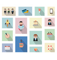 Flat Style UI Icons to use for your business vector image vector image