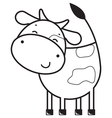 Funny outline cow vector image vector image