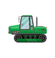 green caterpillar tractor isolated icon vector image