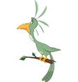 Green Parrot Cartoon Character vector image vector image