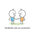 handshake and communication vector image vector image