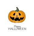 happy halloween concept pumkin with scary face vector image vector image
