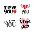 I love You text vector image vector image