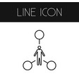 isolated human outline tasks element can vector image