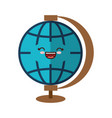 kawaii earth planet icon vector image vector image