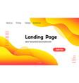 landing page template liquid fluid yellow vector image vector image