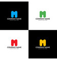 letter m logo icon flat and design vector image vector image