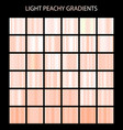light peachy color gradients collection bright vector image vector image